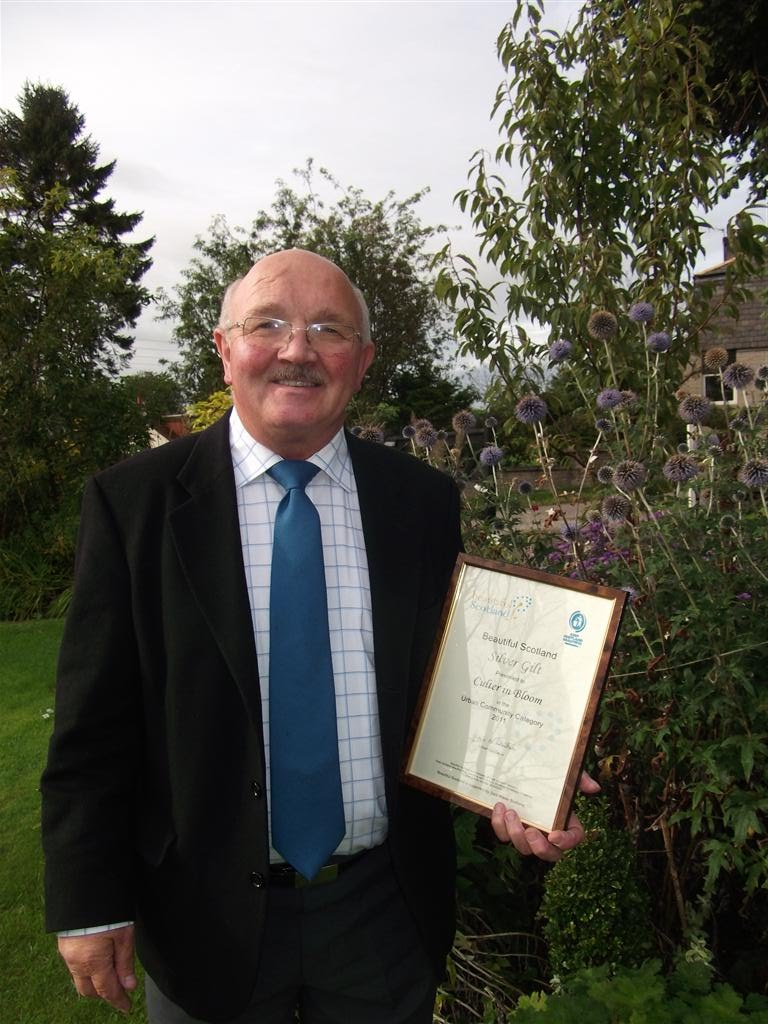 Malcolm Sharp with our Silver Gilt certificate